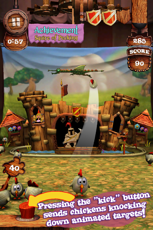 Screenshot Kick'n Chick'nz: Medieval Karnival